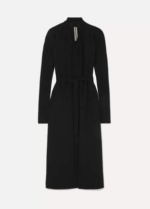 Rick Owens Belted Wool Cardigan - Black