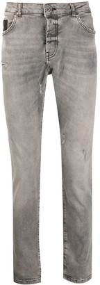 John Richmond Amsack distressed detail denim jeans