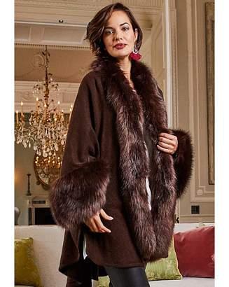 5ded2a328d30a Faux Fur Trimmed Cape - ShopStyle UK