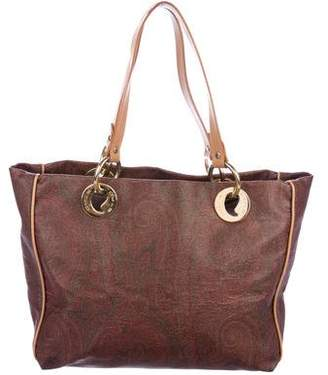 Etro Leather-Trimmed Paisley Tote