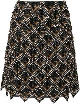 Fendi geometric embellished skirt