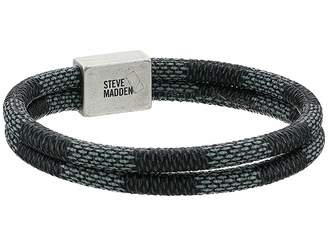 Steve Madden Ombre Textured Braided Leather Bracelet
