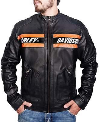 Harley-Davidson The Custom Jacket Bill Goldberg WWE Motorcycle Vintage Biker Real Leather Jacket (XXXL, )