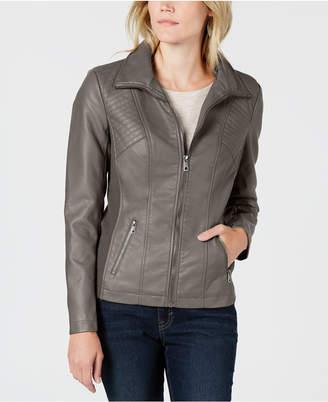 Style&Co. Style & Co Faux-Leather Moto Jacket