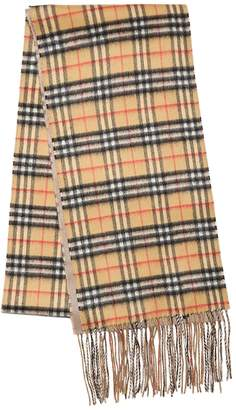 Burberry Xl Reversible New Check Cashmere Scarf