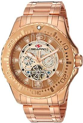 Seapro Men's SP3311 Tidal PX1 Analog Display Automatic Self Wind Rose Gold Watch