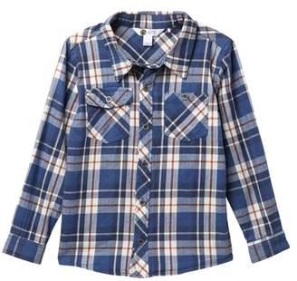 Petit Lem Long Sleeve Buttoned Plaid Shirt (Toddler & Little Boys)