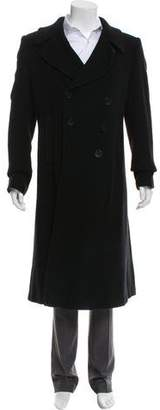 Rick Owens Double-Breasted Wool Trench Coat