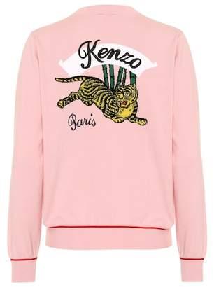 Kenzo Appliquéd cotton-blend jacket