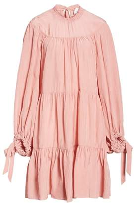 3.1 Phillip Lim Puff Sleeve Tiered Dress