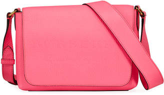 Burberry Burleigh Small Soft Leather Crossbody Bag, Bright Pink