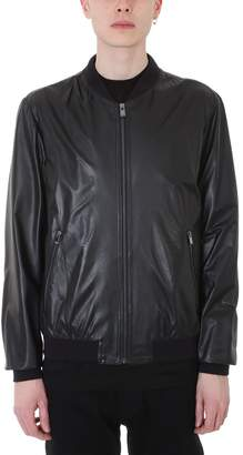 Drome College Black Bomber Jacket