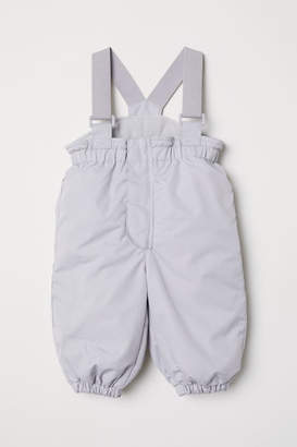 H&M Snow Pants with Suspenders - Gray