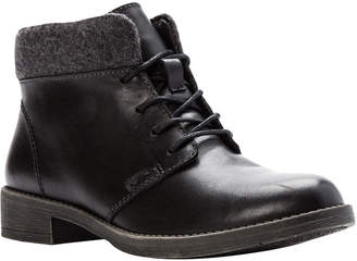 Propet Womens Tatum Lace Bootie Booties Stacked Heel Lace-up