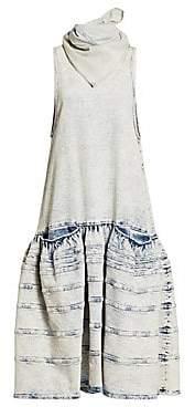 Proenza Schouler Women's Sleeveless Drop-Waist Denim Dress