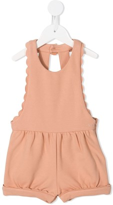 Chloé Kids open back dungarees