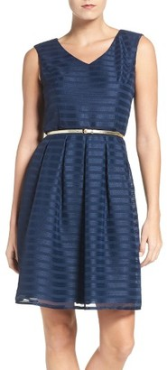 Women's Ellen Tracy Satin Fit & Flare Dress $138 thestylecure.com