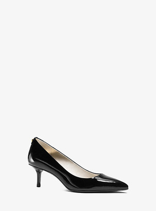 Michael Kors Flex Patent-Leather Kitten-Heel Pump