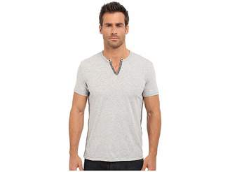 John Varvatos Short Sleeve Eylelet Crew Shirt