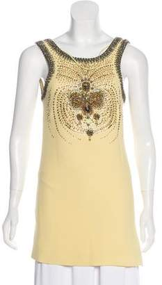 Miu Miu Embellished Crepe Top