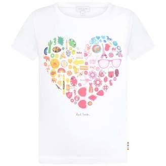 Paul Smith JuniorGirls White Heart Print Rena Top