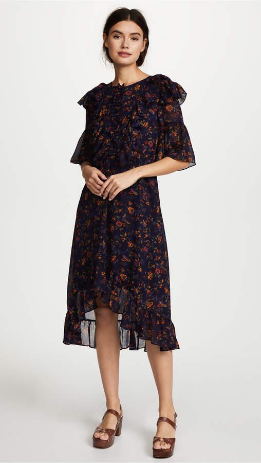 Madewell Juliet Raised Hem Midi Dress