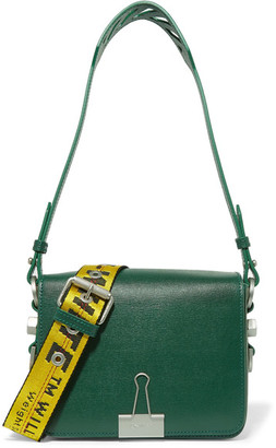 Off-White - Textured-leather Shoulder Bag - Forest green $935 thestylecure.com