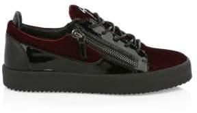 Giuseppe Zanotti Exclusive Velvet Bordeaux Sneakers