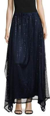 Romance Was Born Aura Aurora Epitome Sequin Maxi Skirt