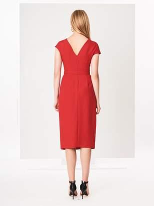 8d7fdda9ac0 Oscar de la Renta Silk-Wool Crepe Dress