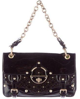 Versace Cutout Patent Leather Flap Bag $400 thestylecure.com