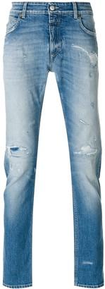 Closed distressed slim fit jeans