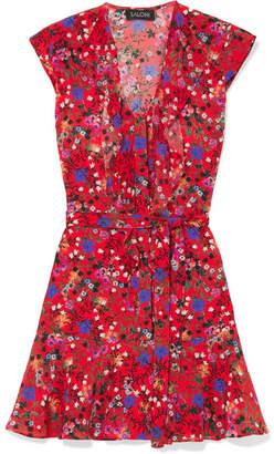 Saloni Katie Floral-print Silk Dress