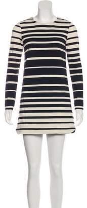 Tibi Long-Sleeve Mini Dress