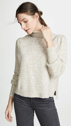 Frame Swingy Rib Turtleneck Sweater