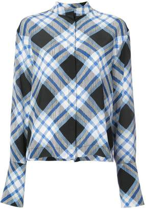 Diane von Furstenberg diamond plaid print blouse