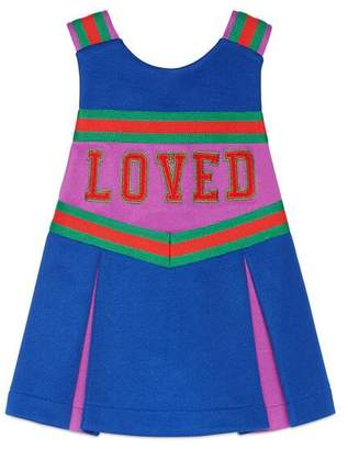 Gucci Baby embroidered technical jersey dress
