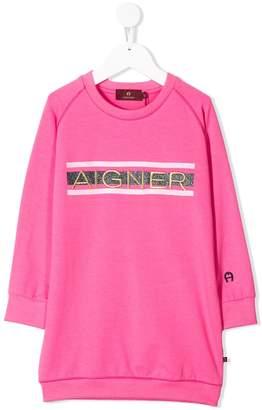 Aigner Kids logo sweater dress