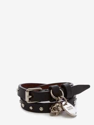 Alexander McQueen Double Wrap Studded Bracelet