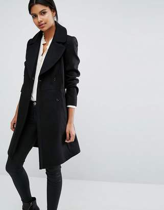 Oasis Belted Flare Coat $129 thestylecure.com