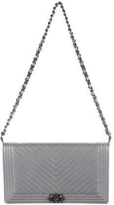 Chanel 2015 Chevron Boy Wallet on Chain