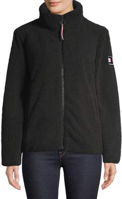 Tommy Hilfiger Stand-Collar Plush Jacket