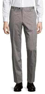 Sand Geometric Straight Pants