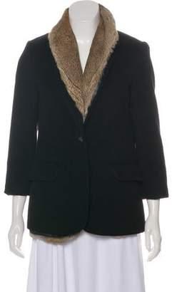 Elizabeth and James Wool Layered Coat
