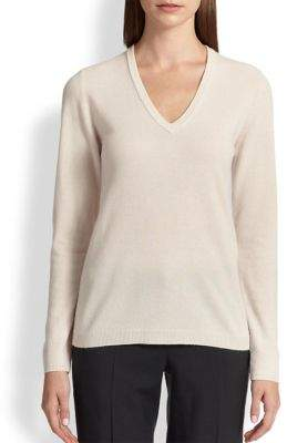 Brunello Cucinelli Elbow-Patch Cashmere Sweater