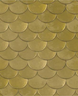 Genenieve Gorder For Tempaper Brass Belly Self-Adhesive Wallpaper