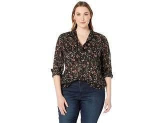 Lauren Ralph Lauren Plus Size Cotton Voile Shirt