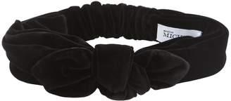 Maison Michel Tali Velvet Headband W/ Knot Detail