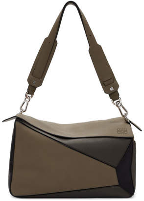 Loewe Taupe XL Puzzle Bag