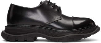 Alexander McQueen Black Lace-Up Derbys